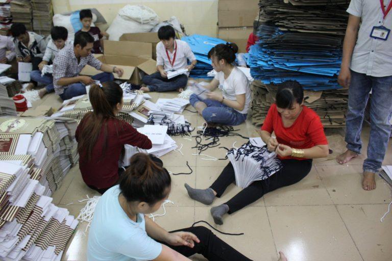hoạt động sản xuất xưởng in bảo ngọc
