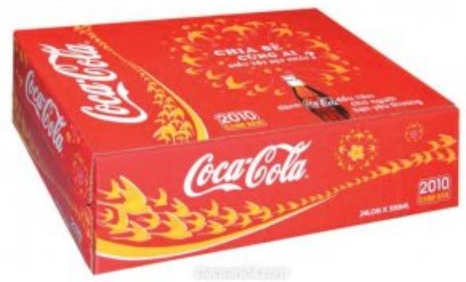 in thùng carton cocacola