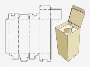 mẫu hộp giấy đụng ly