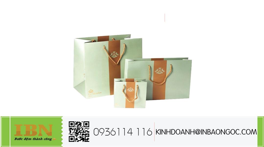 in túi giấy đựng mỹ phẩm giá rẻ hcm