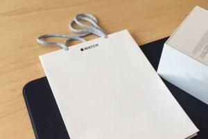 Mẫu in túi giấy Apple chất lượng