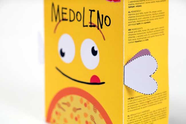 Hộp giấy ngũ cốc hình ong vàng