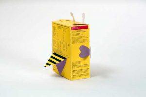 Mẫu in hộp giấy đựng ngũ cốc hình ong vàng