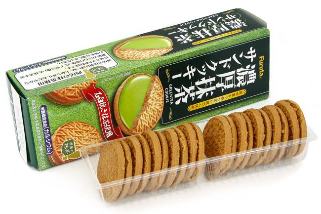 In bao bì giấy đựng bánh quy trà xanh