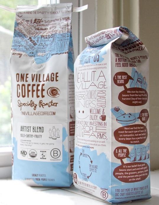 Mẫu in bao bì giấy đựng cafe