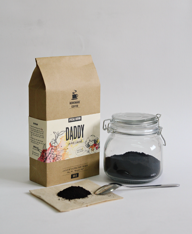 In túi giấy kraft đựng cà phê cho doanh nghiệp