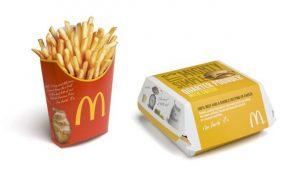 in túi giấy kraft đựng khoai tây chiên giá rẻ