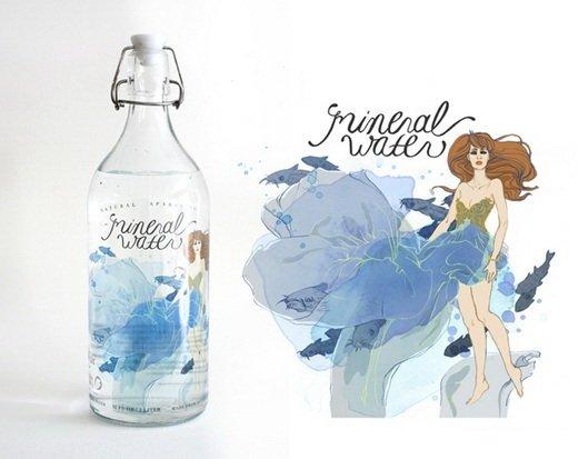 mẫu thiết kế tem nhãn decal nước uống đóng chai