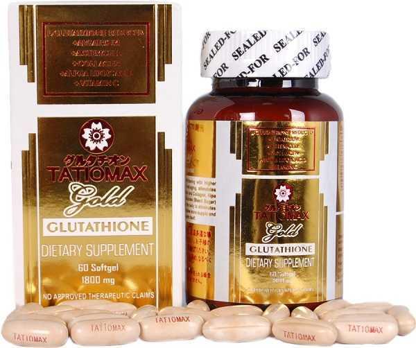 vien uong trang da Tatiomax Gold Glutathione