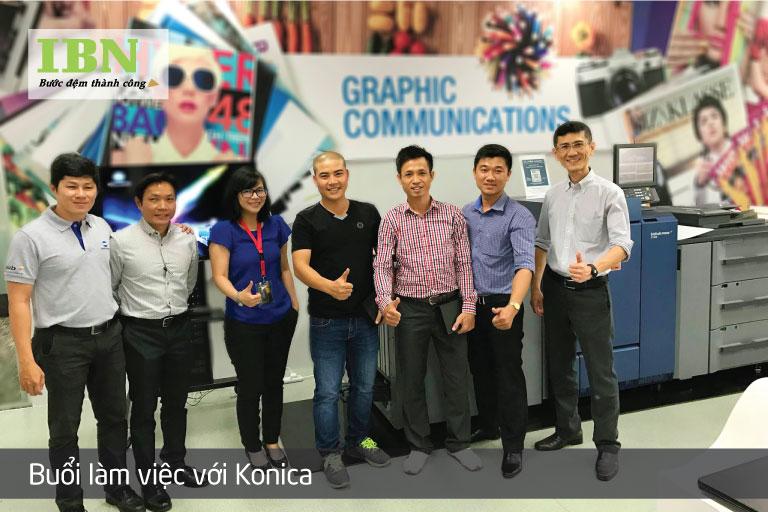 Test máy in KTS tốc độ cao tại Konica Minolta Singapore