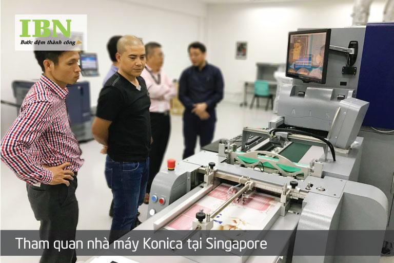 Test máy in MGI tại nhà máy Konica Minolta