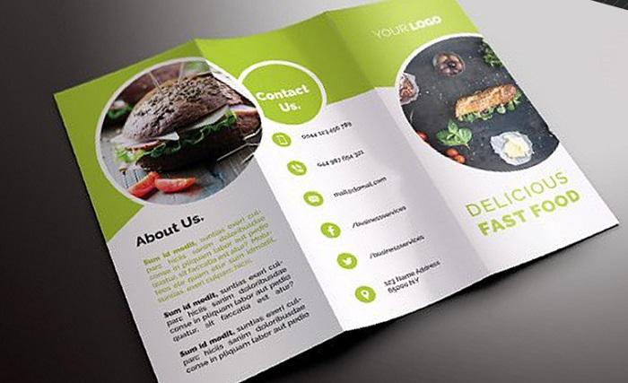 kích thước brochure phổ biến