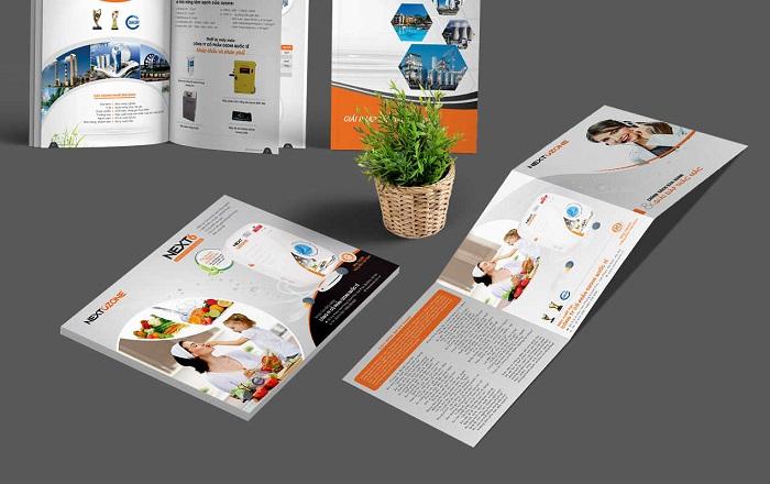kích thước brochure chất lượng